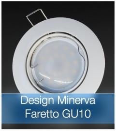 Corpo Faretto Bianco con Faretto LED GU10 5W - Design MINERVA