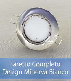 Faretto completo Satinato con PCB SAMSUNG 9W - Design MINERVA - Dimmerabile - Made In Italy