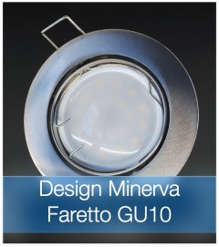 Corpo Faretto Satinato con Faretto LED GU10 5W - Design MINERVA