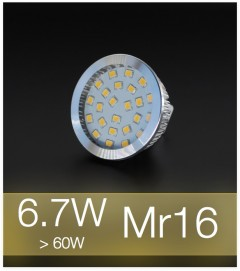 Faretto LED MR16 6.7W (60W) - Bianco CALDO
