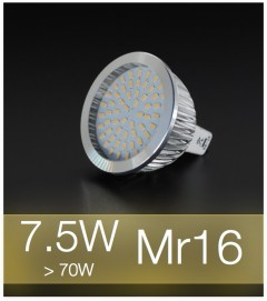 Faretto LED MR16 7.5W (70W) - Bianco CALDO