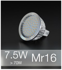 Faretto LED MR16 7.5W (70W) - Bianco NATURALE