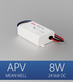 Alimentatore Meanwell APV-08-24  - 24V - 8W