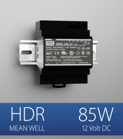 Alimentatore Meanwell HDR-100-12 - 85W - Barra DIN