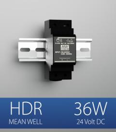 Alimentatore Meanwell HDR-30-24 - 36W - Barra DIN