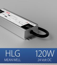 Alimentatore Meanwell HLG-120H-24 24V 120W  Resistente all'acqua - Versione Standard, A e B