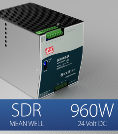 Alimentatore Meanwell SDR-960-24 Industriale Output Singolo - 960W - Barra DIN
