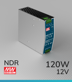 Alimentatore Meanwell NDR-120-12 Industriale Output Singolo - 120W - 12V - Barra DIN
