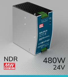 Alimentatore Meanwell NDR-480-24 Industriale Output Singolo - 480W - Barra DIN