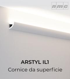 Cornice NMC ARSTYL IL1 in Poliuretano per Illuminazione LED - 2 Metri
