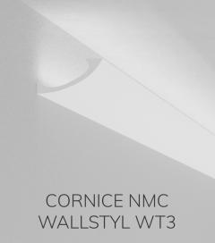 Cornice NMC WALLSTYL WT3 in Polistirene per Illuminazione LED - 2 Metri - SU ORDINAZIONE