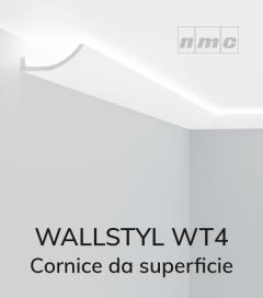 Cornice NMC WALLSTYL WT4 in Polistirene per Illuminazione LED - 2 Metri - SU ORDINAZIONE