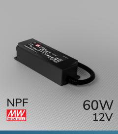Alimentatore Meanwell NPF-60-12  - 12V - 60W