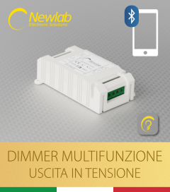 Dimmer Newlab L400 Bluetooth - Multifunzione (Push Button, 0-10V/1-10V, Potenziometro, DALI e BLE)