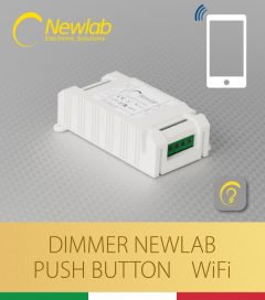 Dimmer Newlab L458MC - (Push Button, WiFi) - Compatibile con Alexa e Google Home