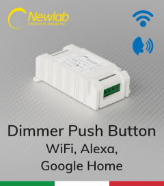 Dimmer Newlab L458MA - (Push Button, WiFi) - Compatibile con Alexa e Google Home