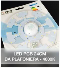 LED per Plafoniera - 24 cm - 18W Colore Bianco Naturale