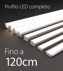 Profilo LED Completo per Illuminazione Dimmerabile - da 100cm a 120cm - Personalizzabile