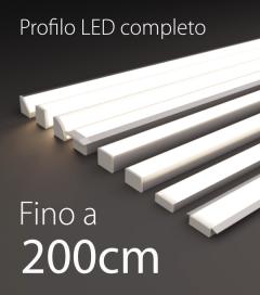 Profilo LED Completo per Illuminazione Dimmerabile - da 180cm a 200cm - Personalizzabile