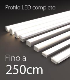 Profilo LED Completo per Illuminazione Dimmerabile - da 240cm a 250cm - Personalizzabile