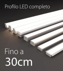 Profilo LED Completo per Illuminazione Dimmerabile - 30cm - Personalizzabile