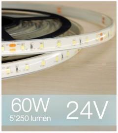 "Striscia LED Totalmente impermeabile IP67 / IP68 ""PRO"" - 75W - 300 LED SMD2835 BIANCO FREDDO"