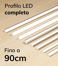 Profilo LED Completo per Illuminazione Dimmerabile - da 60cm a 90cm - Personalizzabile