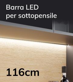Profilo Slim Completo per Sottopensile con Dimmer Touch - Personalizzabile - 116cm