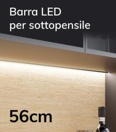 Profilo Slim Completo per Sottopensile con Dimmer Touch - Personalizzabile - 56cm