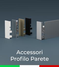 """Accessori per Profilo in Alluminio """"Parete"""""""