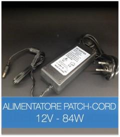 Alimentatore STABILIZZATO 12V 84W con Patch Cord