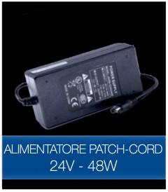 Alimentatore STABILIZZATO 24V 48W con Patch Cord