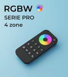 Controller Telecomando RGB o RGBW PRO a 4 Zone + Centraline