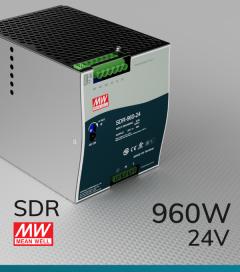 Alimentatore Meanwell SDR-960-24 Industriale Output Singolo - 960W - Barra DIN