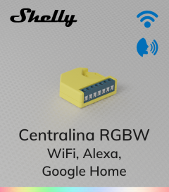Centralina RGBW Shelly - WiFi - Compatibile con Alexa e Google Home
