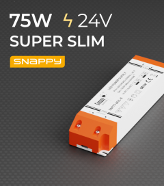 Alimentatore SUPER SLIM SNAPPY SNP75-24VL-E - 75W - 24V