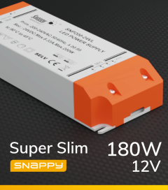 Alimentatore SUPER SLIM SNAPPY SNP200-12VL - 180W - 12V