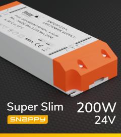 Alimentatore SUPER SLIM SNAPPY SNP200-24VL - 200W - 24V