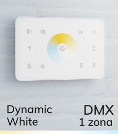 Master DMX da Parete con Ruota Touch + Centralina DMX - 1 ZONA - Per strisce LED Bianco Dinamico - Scatola Standard 503