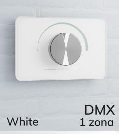 Dimmer Potenziometro da Parete DMX - per strisce LED - Bianco o Nero