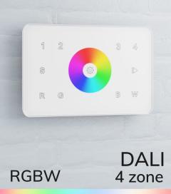 Controller RGBW Touch da Parete a 4 Zone DALI - per strisce LED