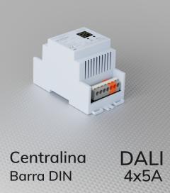 Centralina DALI 4 Canali x 5A per Barra DIN - Indirizzi multipli