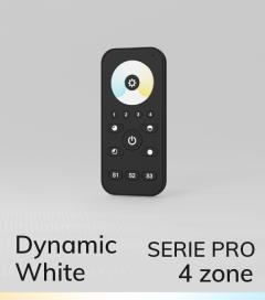 Controller Bianco Dinamico Touch con Telecomando PRO a 4 Zone + Centraline