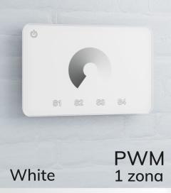 Dimmer Touch da Parete PWM 20 Amp - Per strisce LED - Bianco o Nero