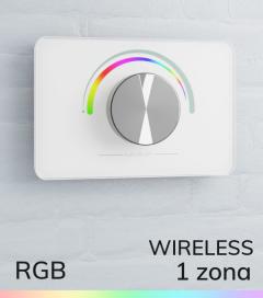 Controller RGB da parete Wireless con Rotella per strisce LED - Bianco o Nero