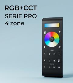 Controller RGB+CCT Touch Programmabile con Telecomando Slider e Ruota a 4 Zone + Centraline