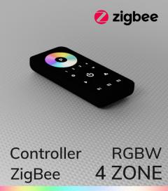 Controller RGBW con Telecomando - 4 Zone - Versione Zigbee - SNR-ZG2819S