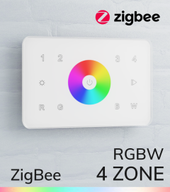 Controller RGBW Touch da Parete - 4 Zone - Wireless - Zigbee