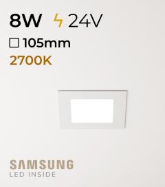 Faretto da Incasso Quadrato Slim 8W LUCE CALDA - LED Samsung