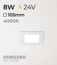 Faretto da Incasso Quadrato Slim 8W BIANCO NATURALE - Downlight - LED Samsung